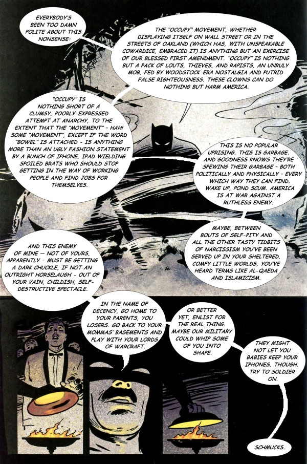 Frank Miller Batman Year One remixed with Occupy Wall Street