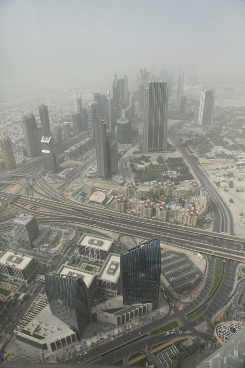 One view from the Burj Kalifa