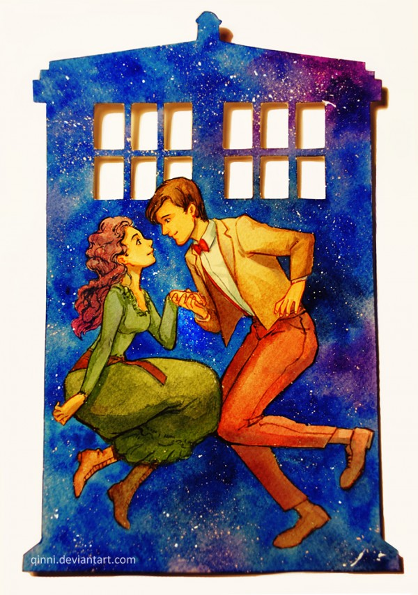 the_doctor_s_wife___watercolor_cut_out_by_qinni-d670it4