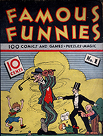 """Famous Funnies #1."" July 1934, Eastern Color Printing. Art by Jon Mayes."