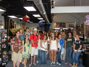 History of the Modern Comic Book students on their field-trip to 21st Century Comics and Games - the campus LCS