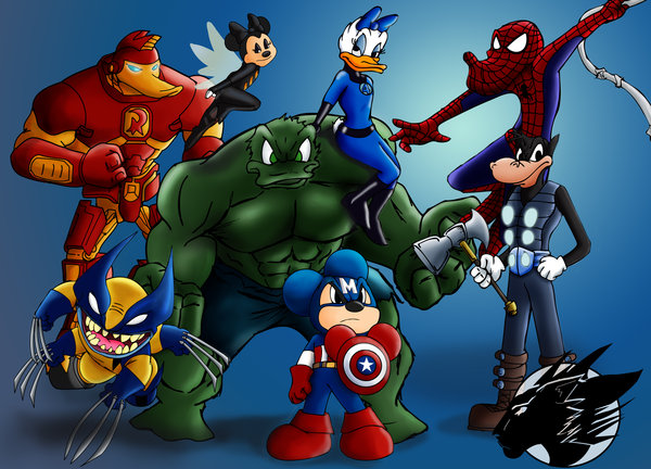 Disney characters as Avengers