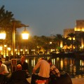 Relaxing after the show in the Madinat Jumeirah