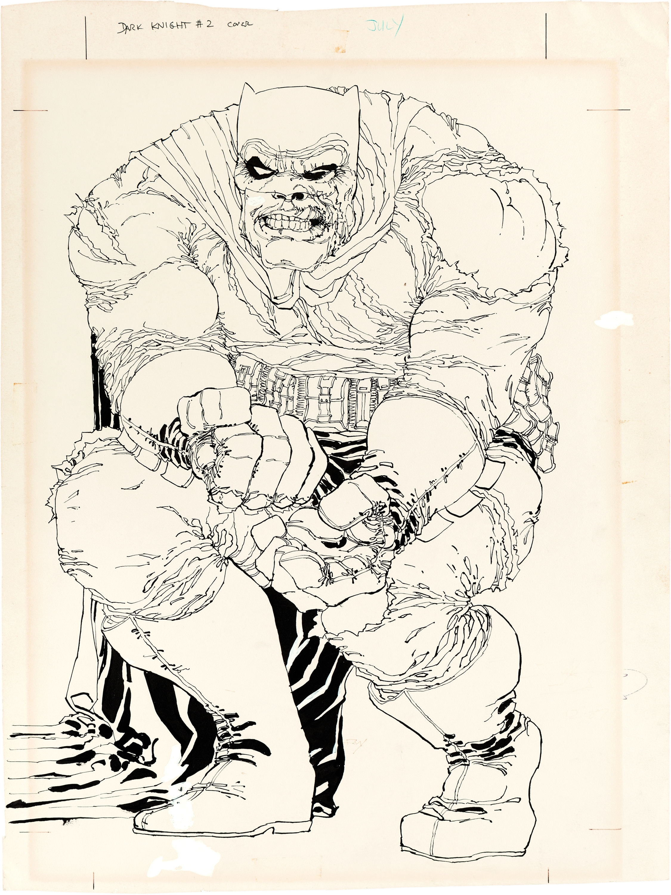 Frank Miller Dark Knight Returns 2 Cover Original Art Sells For 478000
