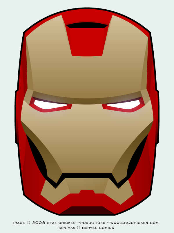 Free Colouring Pages Iron Man Mask Coloring