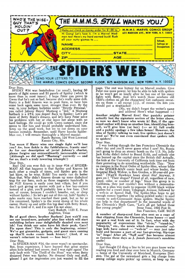 Spider-Man+Letters+Page