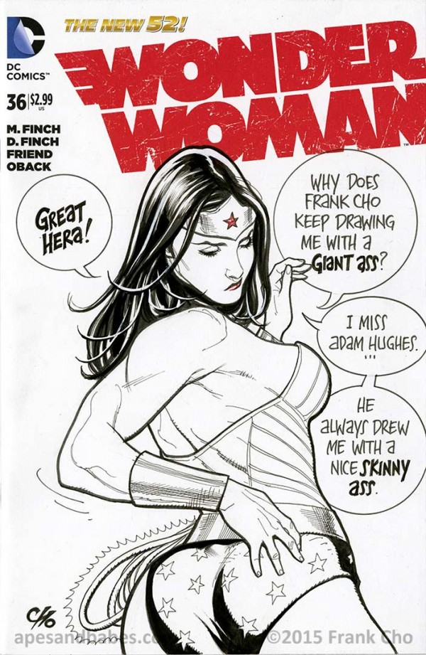 Frank Cho Gives Wonder Woman Her Own Pose, Finally - Bleeding Cool ...