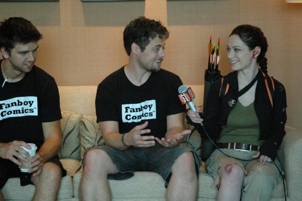 Being interviewed by CNN at SDCC 2012