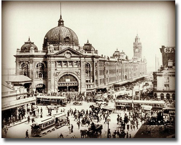 Old picture of Melbourne
