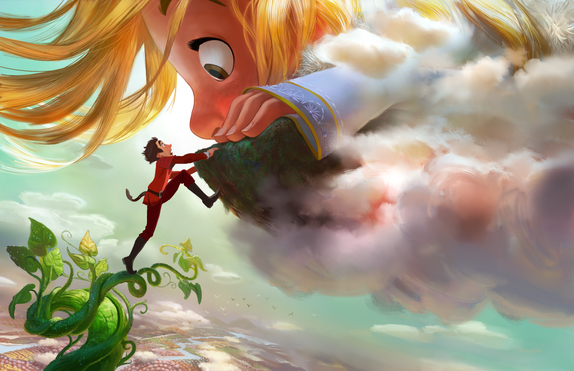 "GIGANTIC - Adventure-seeker Jack discovers a world of giants hidden within the clouds, hatching a grand plan with a 60-foot-tall, 11-year-old girl. Directed by Nathan Greno (""Tangled"") and produced by Dorothy McKim (""Get A Horse!""), ""Gigantic"" hits U.S. theaters in 2018. ©2015 Disney. All Rights Reserved."