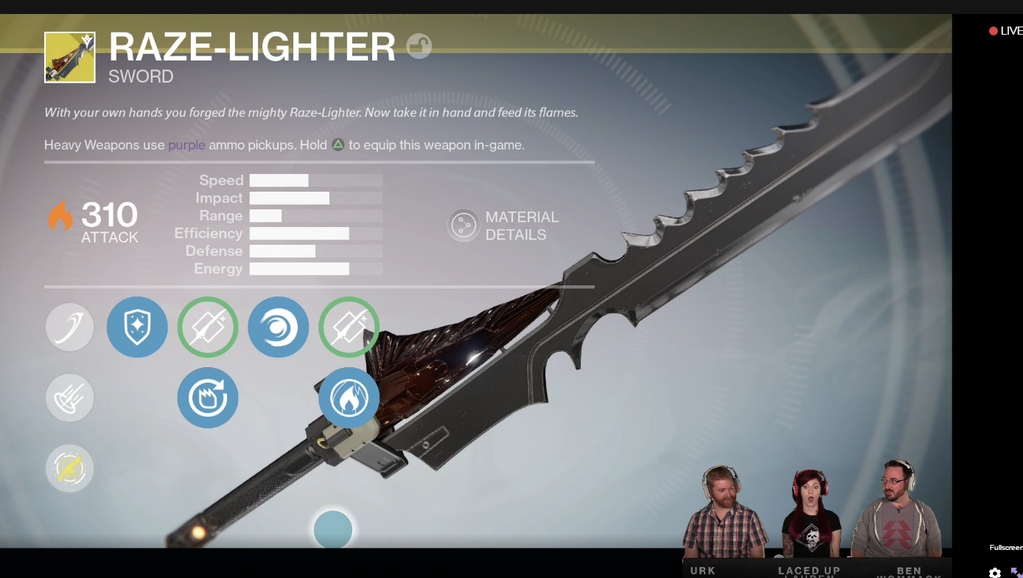 There Is An Exotic Sword You Can Equip In Destiny The Taken King