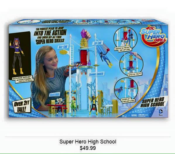 Dc Super Hero Girls In Their Packaging And Their High School