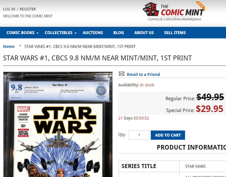 Comic Mint - An eBay Replacement For Comic Books?