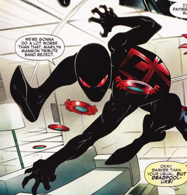 Image (99) Black costume. Red logo. & Spider-Man Gets A Brand New Costume In Spider-Man/Deadpool #8 ...