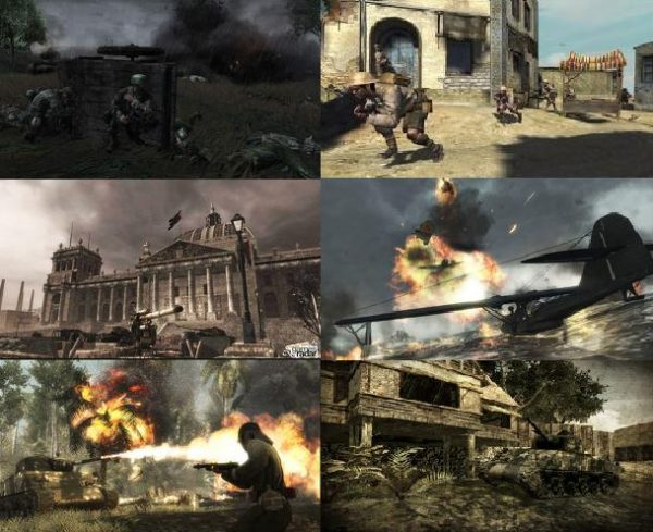 WWII Call of Duty collage courtesy of the Call of Duty wiki page