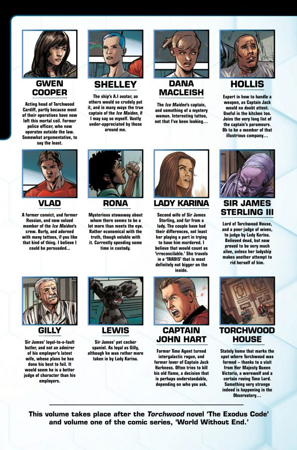 Torchwood 2.01 Character page