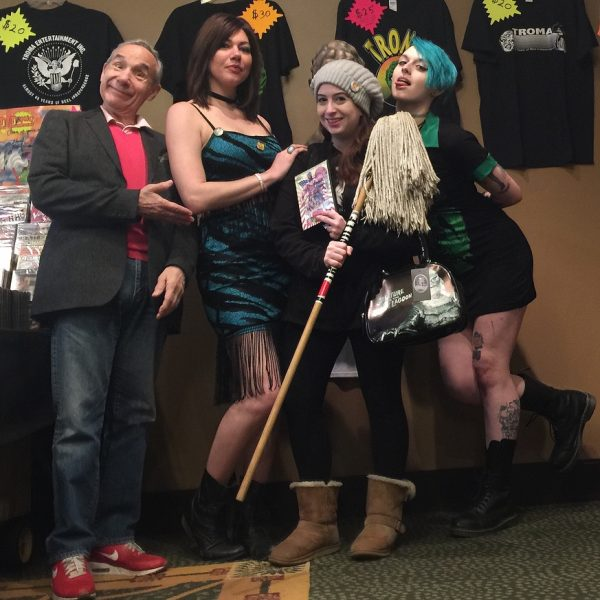 //Me with Lloyd Kaufman and spurious Troma folk