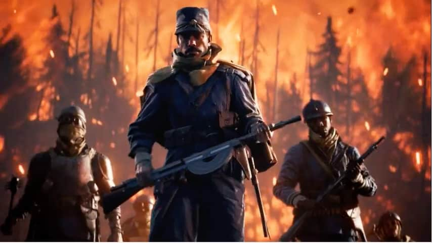 battlefield 1 references french battle cry and also gandalf in the