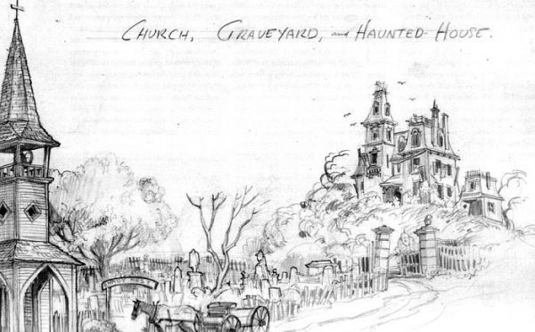 Image result for haunted mansion concept sketch