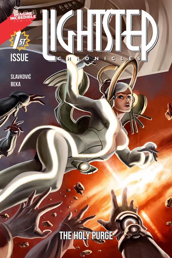 The cover of the first issue of Lightstep Chronicles