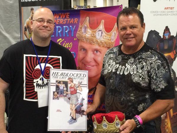 "Cover artist Jerry ""The King"" Lawler"