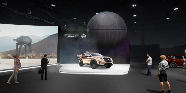 "NEW YORK (April 6, 2017) – As a continuation of an extensive collaboration with Lucasfilm Ltd. in support of ""Rogue One: A Star Wars Story,"" Nissan is bringing an immersive ""Rogue One: A Star Wars Story""-inspired experience to consumers visiting the Nissan booth at the 2017 New York International Auto Show. The activation launches in Gotham City following the Blu-ray™ and Digital HD release of ""Rogue One: A Star Wars Story"" on April 4."
