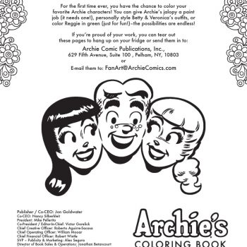 Betty As A Redhead? Archie\'s Coloring Book Hits Shelves