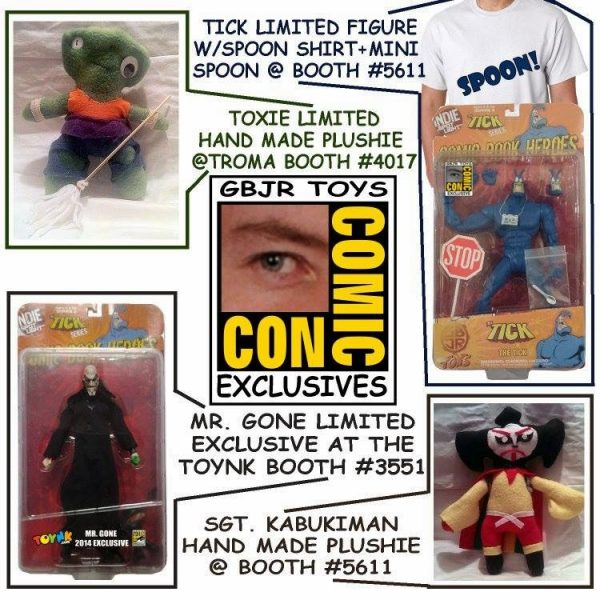 gbjr-toys-san-diego-comic-con-2014-exclusive-spoon-variant-the-ticket-action-figure-battle-damage-mr-gone-action-figure-toxie-plush-sgt-kabukiman-plush