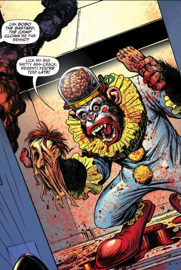 //colourful chimp clowns - what about this isn't brilliant?