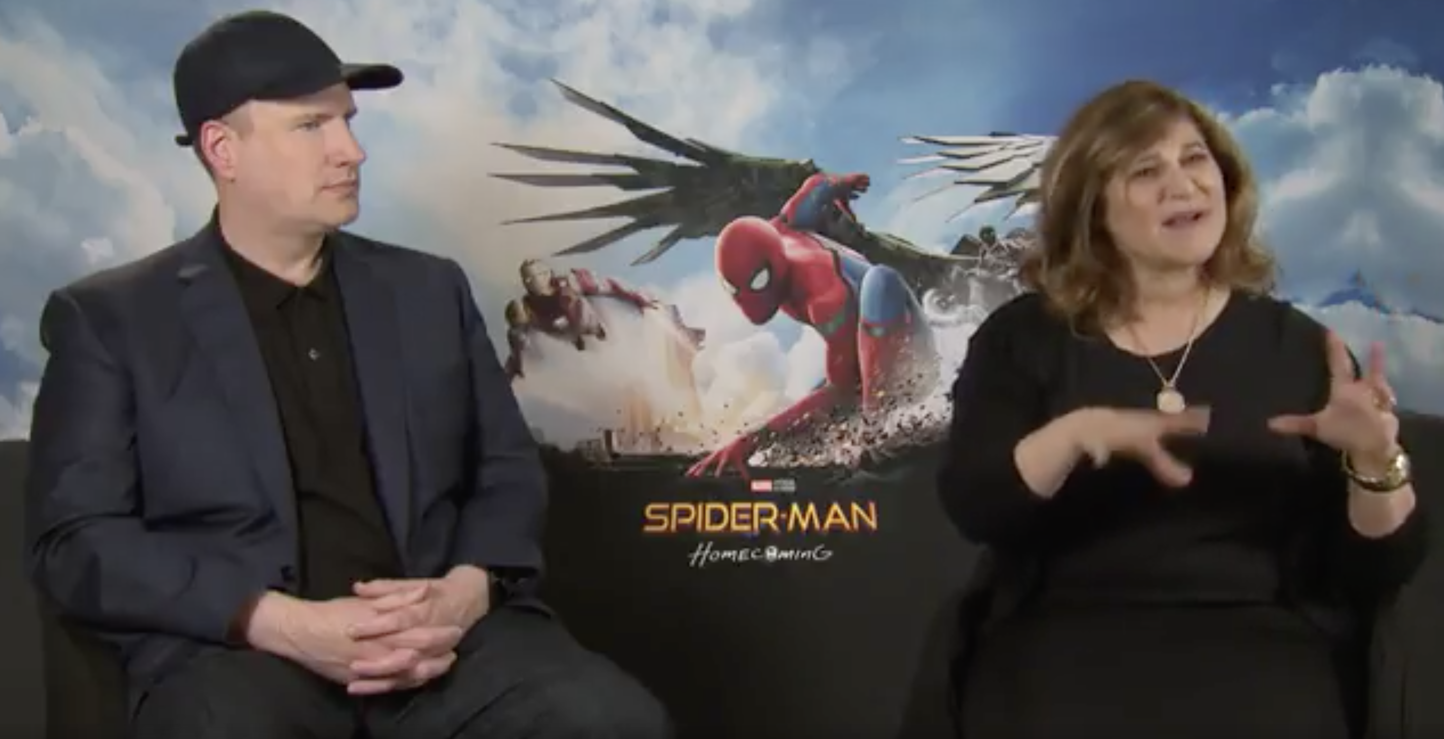 Kevin Feige and Amy Pascal