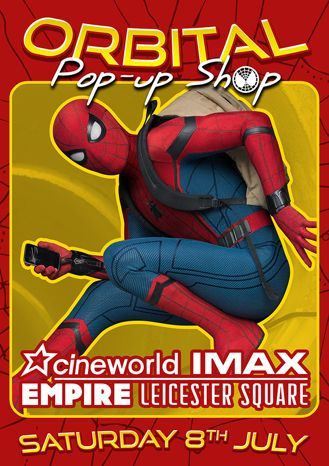 Orbital Comics Launch A Pop-Up Shop In Leicester Square For Spider-Man Homecoming