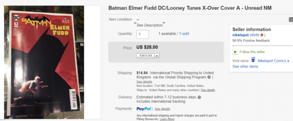 Batman/Elmer Fudd #1 Hits $28 On eBay, Goes To Second Printing From DC Comics