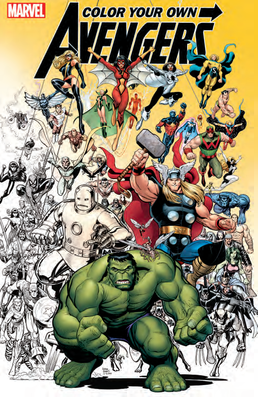 and there came a day a day unlike any other when earths mightiest heroes and heroines found themselves uncolored without their common palette - Marvel Coloring Books