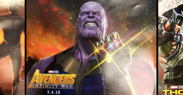Thanos has a commanding presense in the Avengers: Infinity War Teaser presented at D23