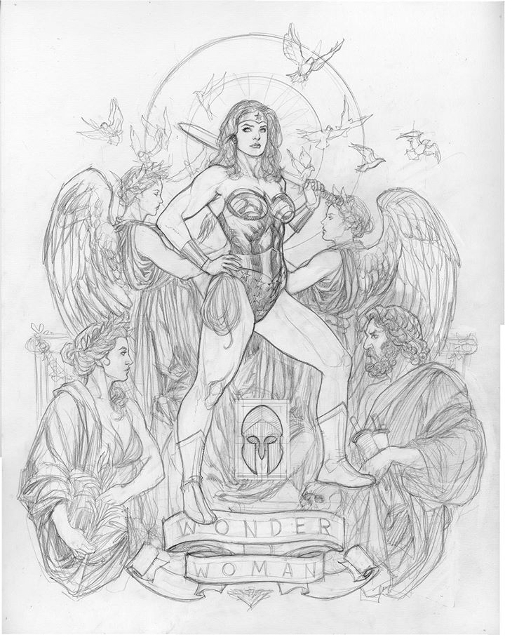 Frank Cho's Variant Cover For A Book Of DC Comics Variant Covers