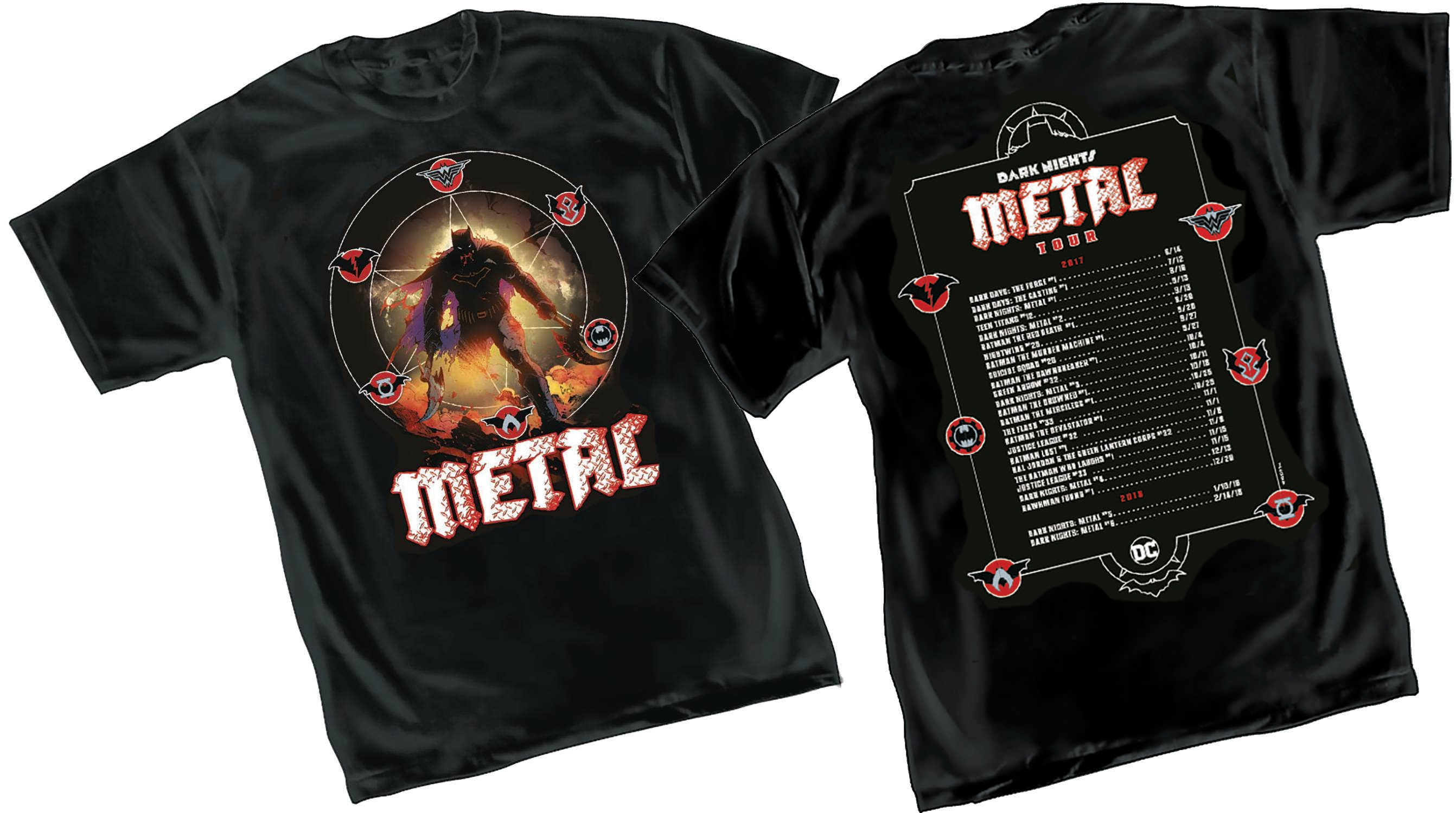 Dark Nights: Metal Tour T-Shirts From San Diego Comic-Con Coming To Comic Stores