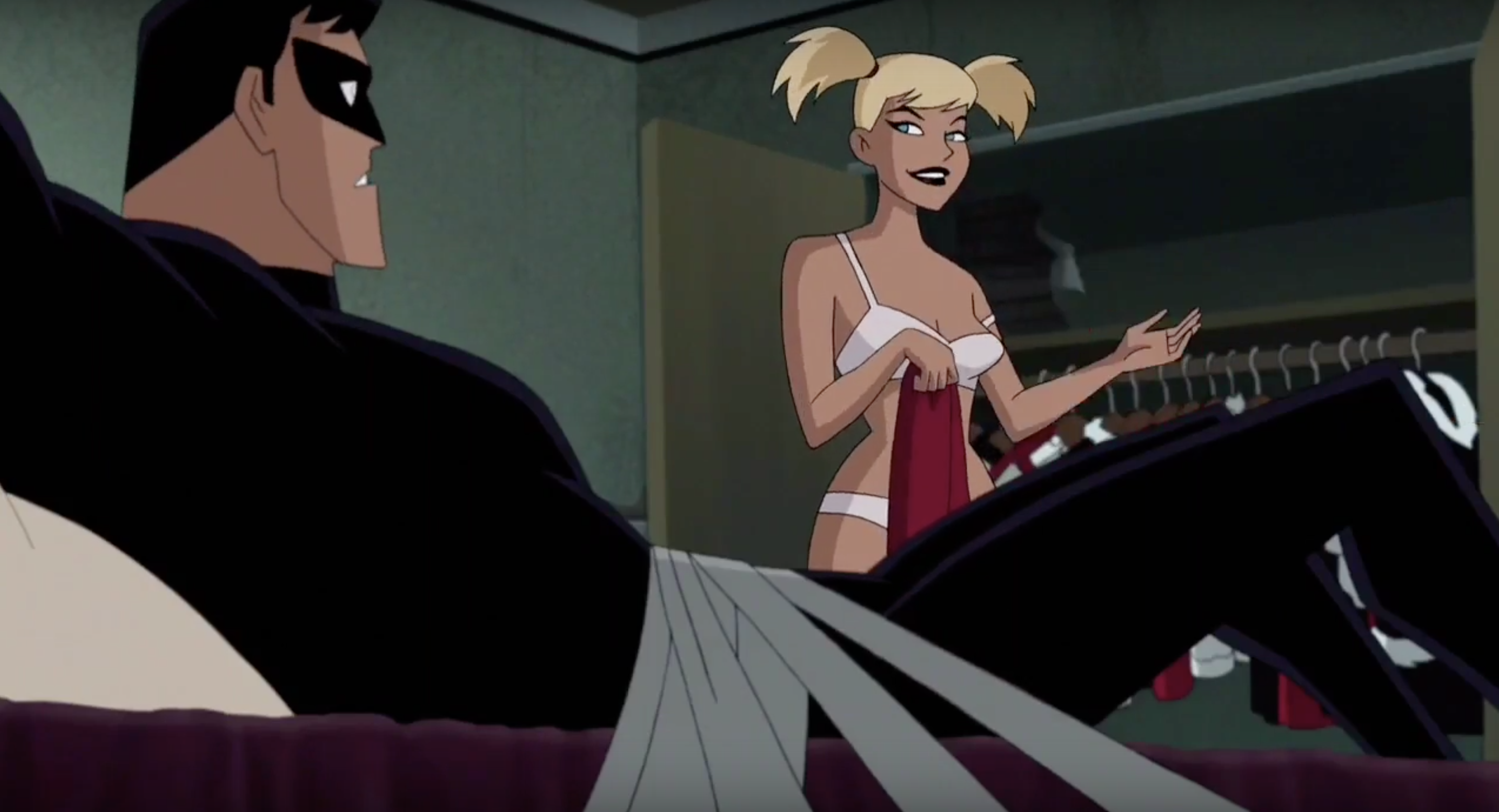 Innocent Sex Scene watch the nightwing/harley sex scene from 'batman and harley