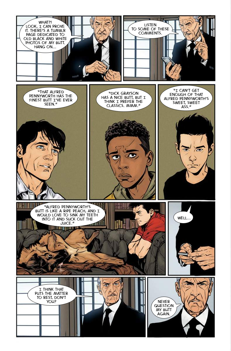 improbable previews: learn the secret of dick grayson's butt
