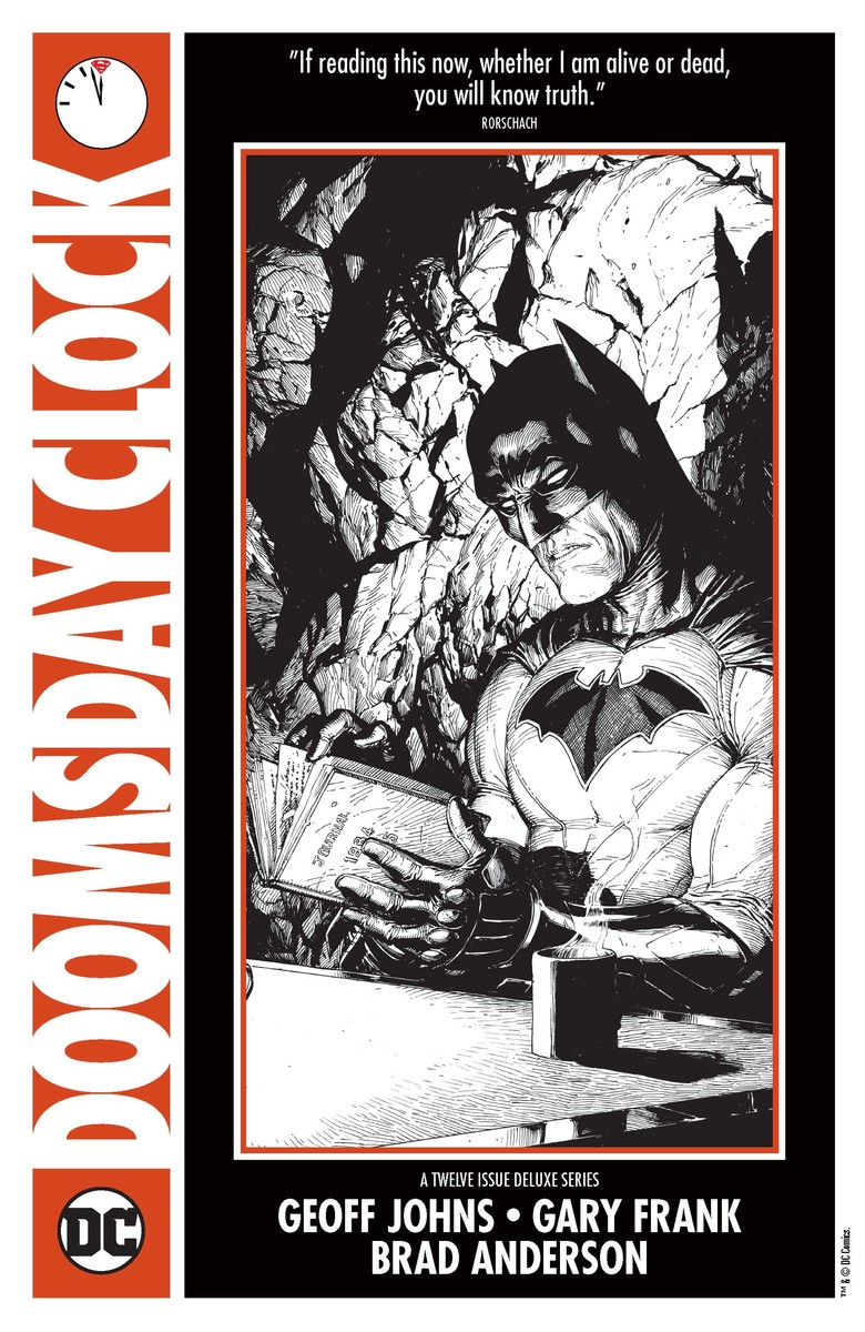 Batman Snoops Through Rorschach's Journal In Doomsday Clock NYCC Artwork