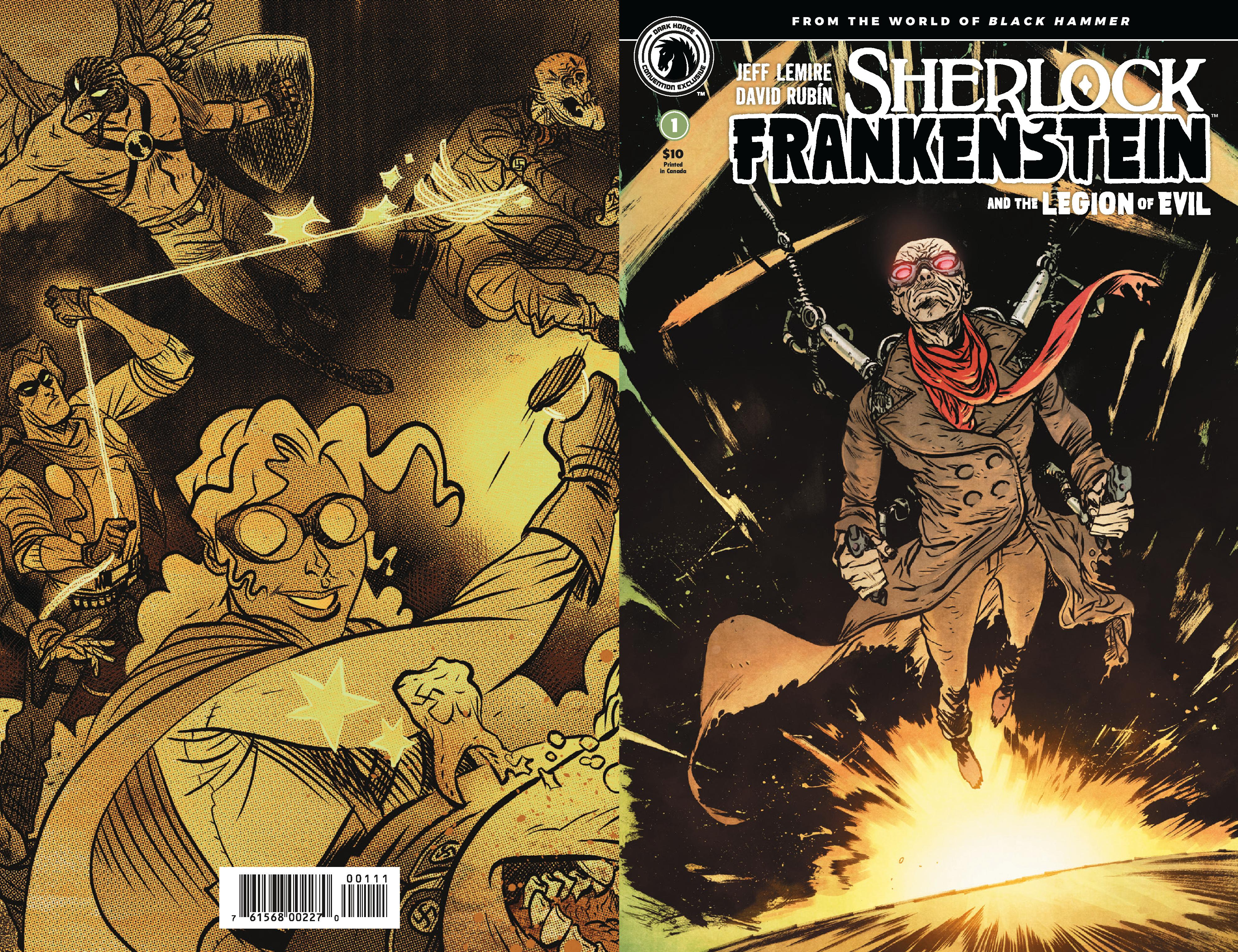 At NYCC Dark Horse Comics Will Have A Sherlock Frankenstein Wraparound Variant Cover By Daniel Warren Johnson Of Extremity For 10