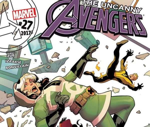 Cover to Uncanny Avengers #27 by R.B. Silva and Tamra Bonvillain