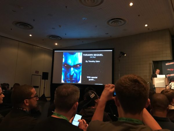Announcement for new Thrawn novel from NYCC