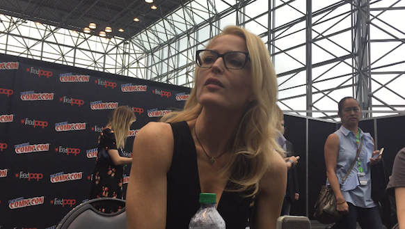 Gillian Anderson at New York Comic Con