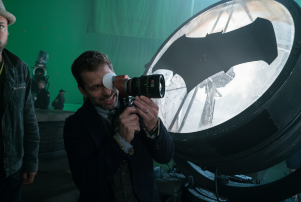 Zack Snyder's on the set of Justice League