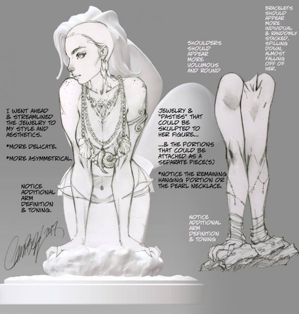 J. Scott Campbell Little Mermaid Statue 5