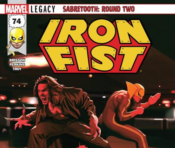 Iron Fist #74 cover by Jeff Dekal