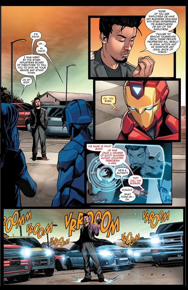 Invincible Iron Man #594 art by Stefano Caselli, Alex Maleev, and Israel Silva