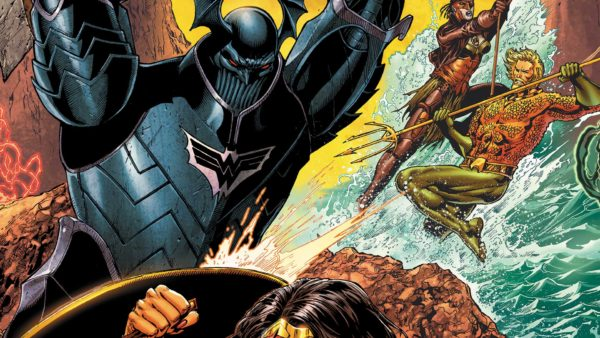 Justice League #32 cover by Ethan van Sciver and Jason Wright