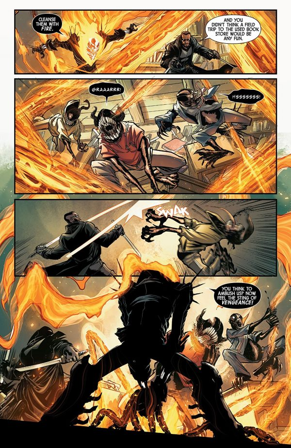 Spirits of Vengeance #2 art by David Baldeon and Andres Mossa