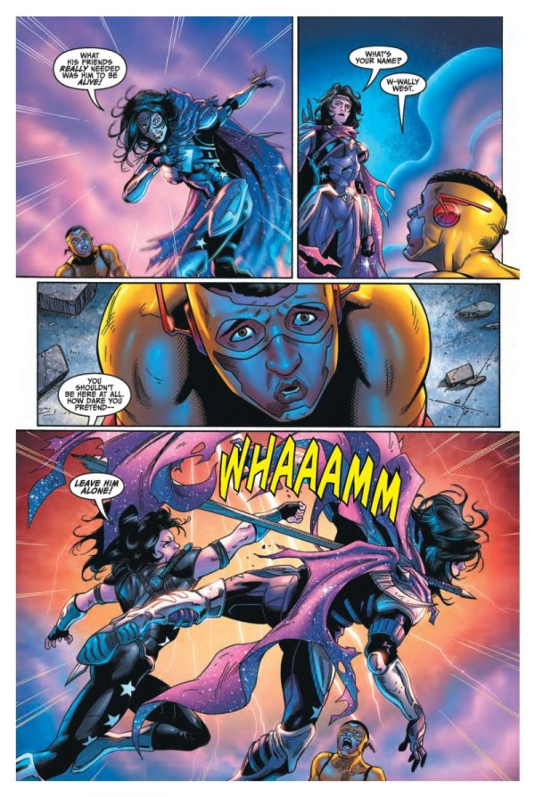 Titans #17 art by Minkyu Jung, Mick Gray, and Blond
